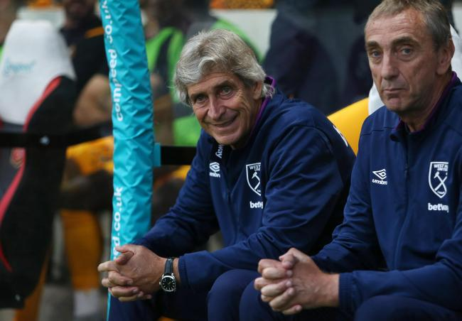 HAPPY: West Ham United manager Manuel Pellegrini saw his side beat Newport County last night