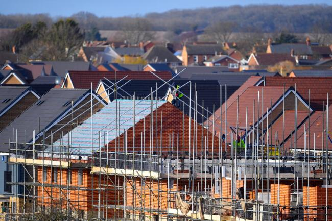 EMBARGOED TO 0001 WEDNESDAY JULY 31 ..File photo dated 01/02/18 of houses under construction. The number of new homes being registered across the UK has jumped to its highest level in nearly 12 years, according to a warranty and insurance provider PRESS A