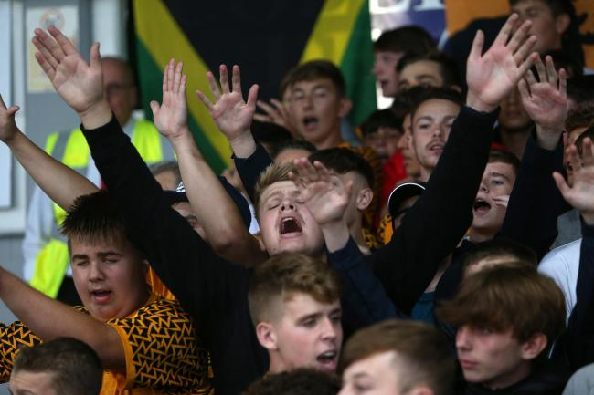 CUP MAGIC: Supporters back Newport County in their clash against Premier League West Ham