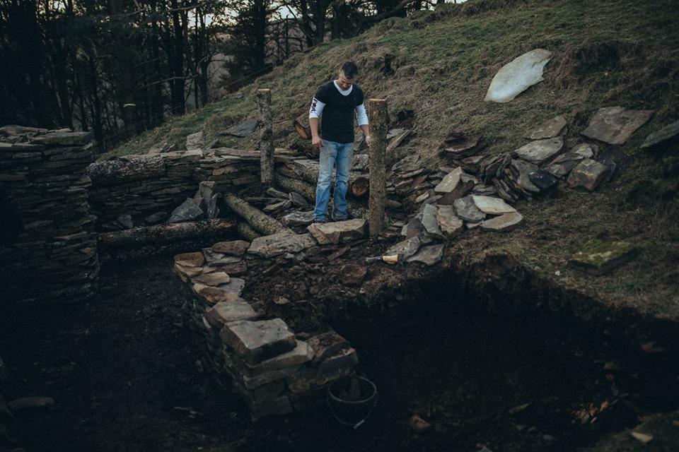 Oakdale war veteran builds cabin in Mynyddislwyn near Blackwood