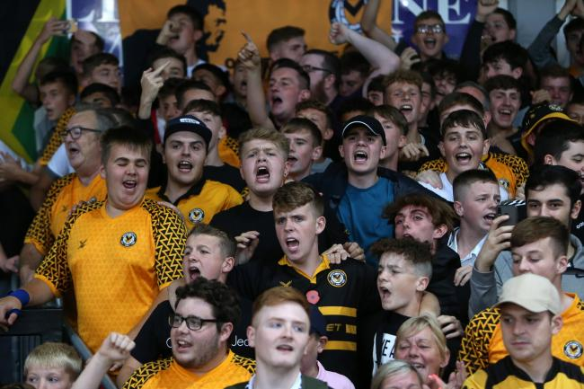 FANTASTIC: Newport County supporters are enjoying their side's excellent start to the season