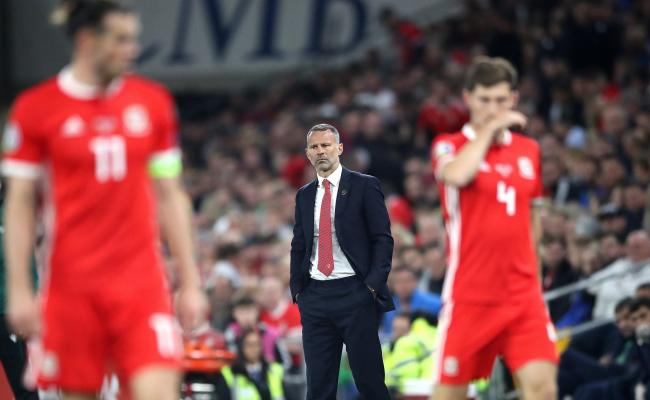RELIEVED: Wales boss Ryan Giggs saw his side beat Azerbaijan with a late goal last night