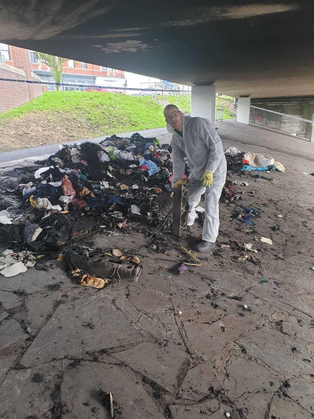 Pride in Pill clean-up after Newport arson attack on homeless