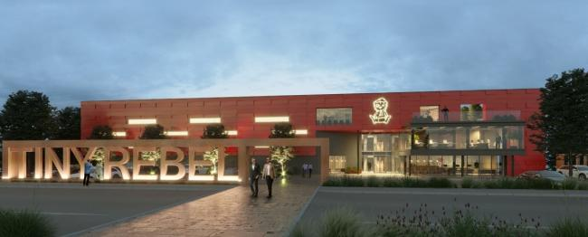 An artist\'s impression of the distribution warehouse. Picture: Powell Dobson Architects