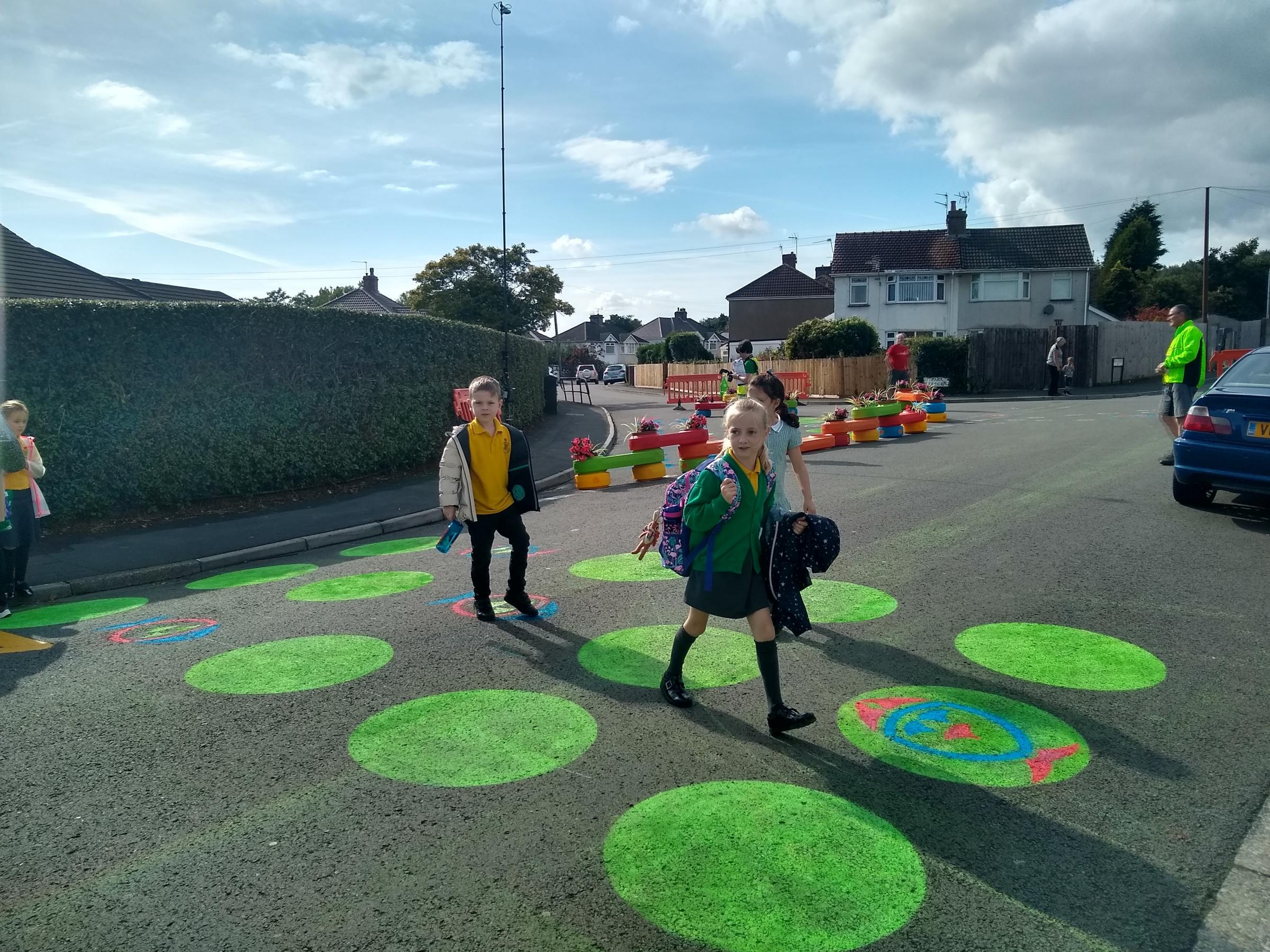 Street trial transforms road safety at Newport's St David's R.C. School