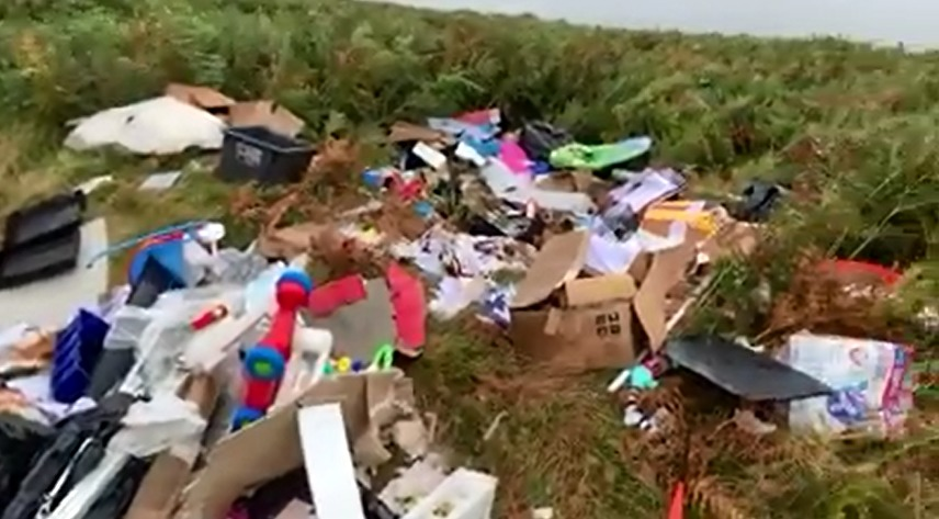 Bank statements, financial records and personal information among items fly-tipped on Caerphilly mountain