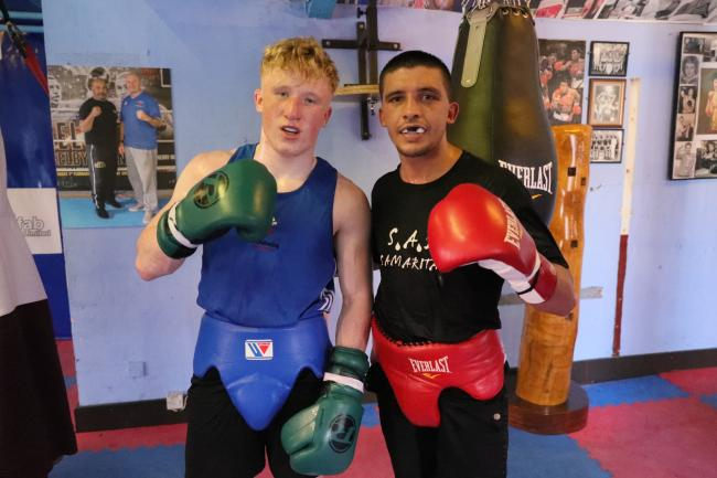 REPEAT AIM: Jordan Withers, left, with St Joes stablemate Lee Selby