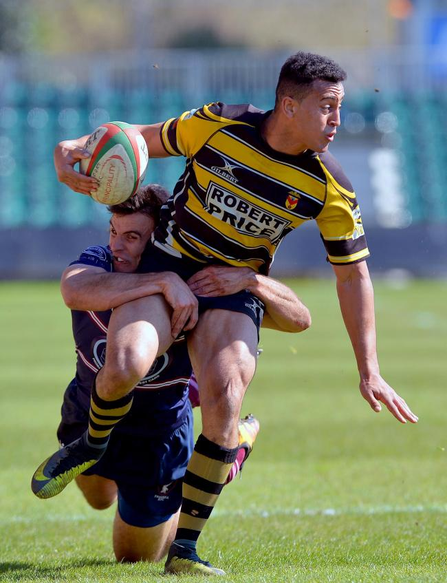 LIVELY: Newport centre Jonathan Morris was elusive in attack and scored a try (Picture from files)