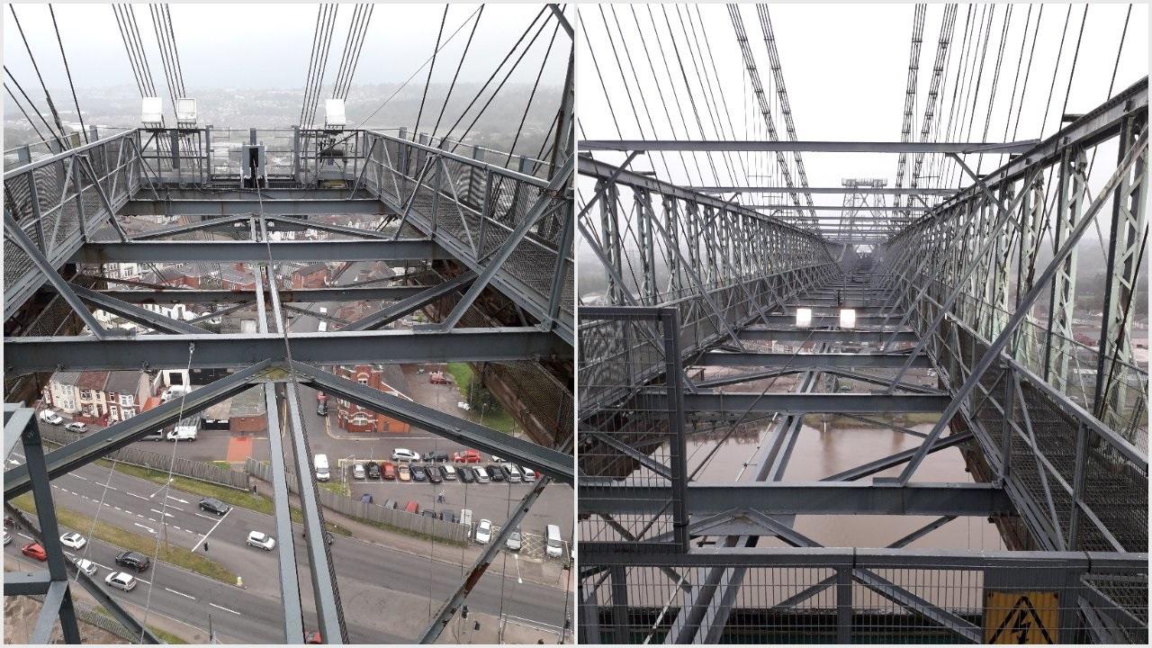 Atop the Transporter Bridge...