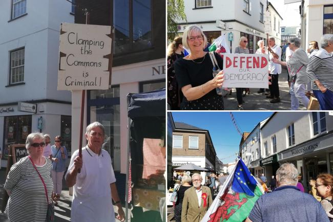 'Our democracy is being destroyed' — anti-prorogation protesters march through Abergavenny