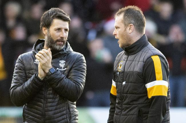 LINK: Newport County boss Michael Flynn, right, remains the favourite to replace Danny Cowley, left, at Lincoln City