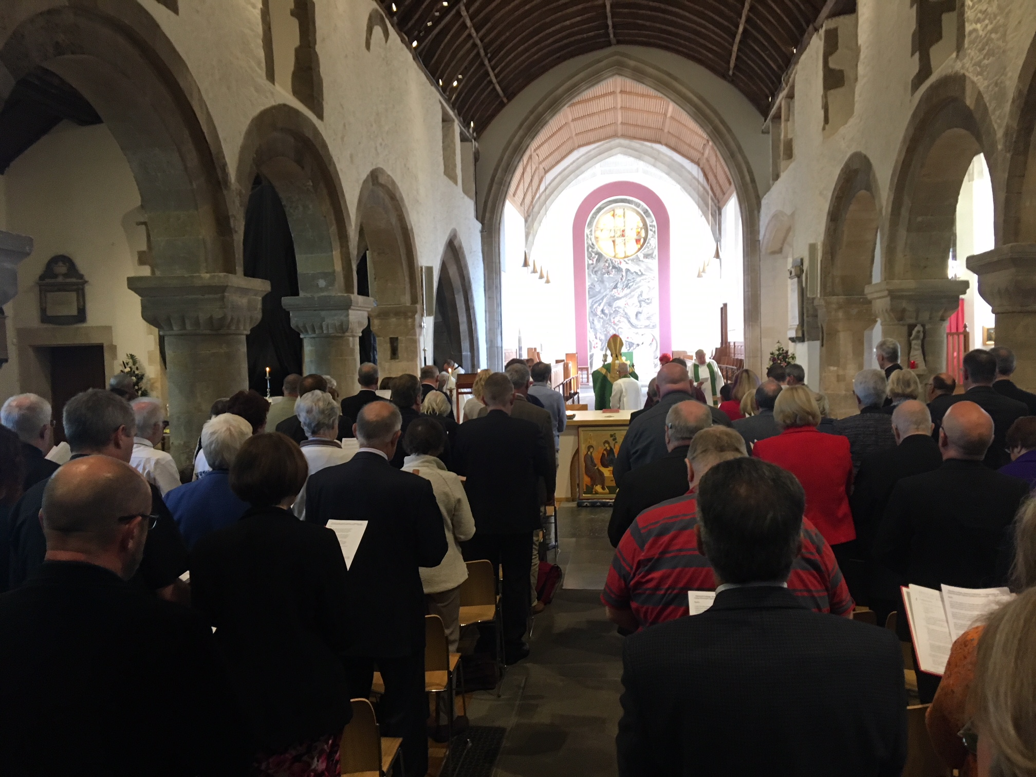 Newport Cathedral is in lockdown as the process of electing a new Bishop of Monmouth gets underway