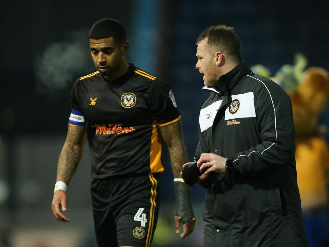BOND: Newport County captain Joss Labadie, left, is delighted that manager Michael Flynn is staying