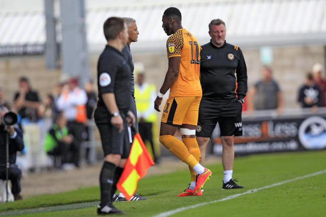RETURN: Newport County striker Jamille Matt is back from suspension after his red card at Northampton Town last Saturday. Pictures: Huw Evans Agency