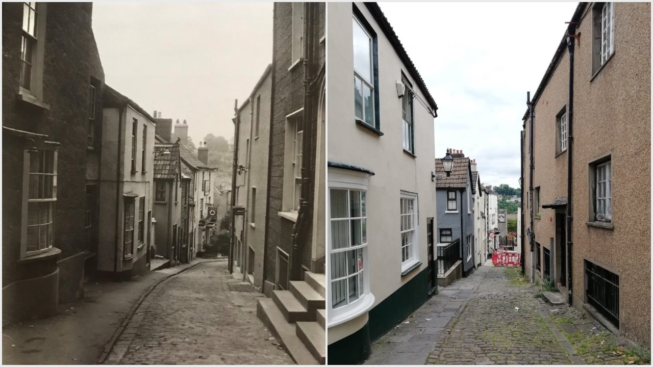 Now & Then: Where is this street scene in Gwent?