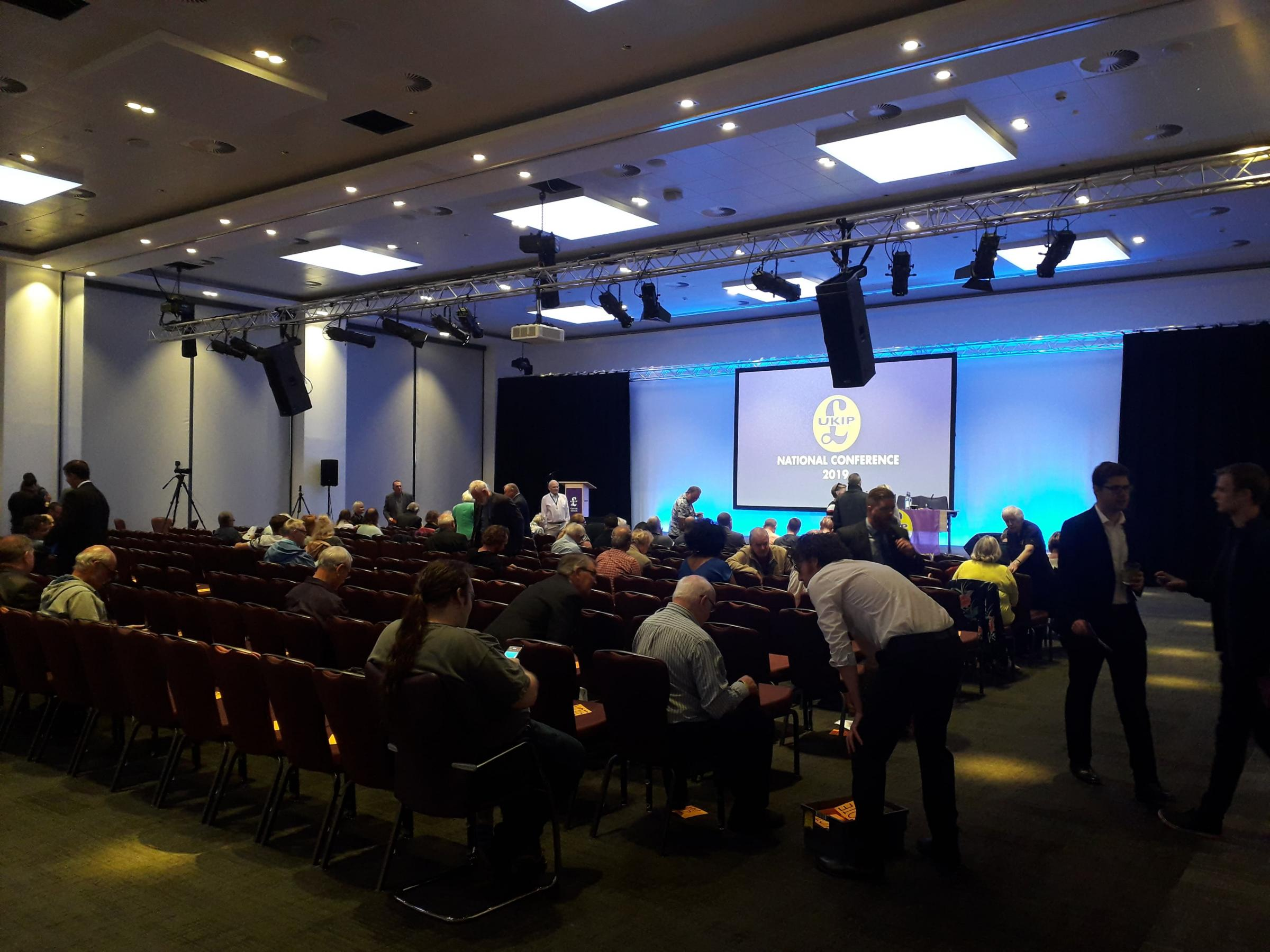 Empty seats and no-shows blight UKIP party conference at the ICC Wales