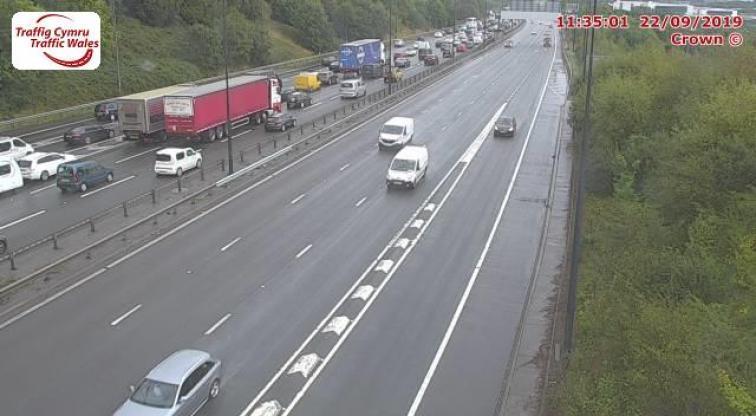 Severe delays on eastbound M4 around Newport