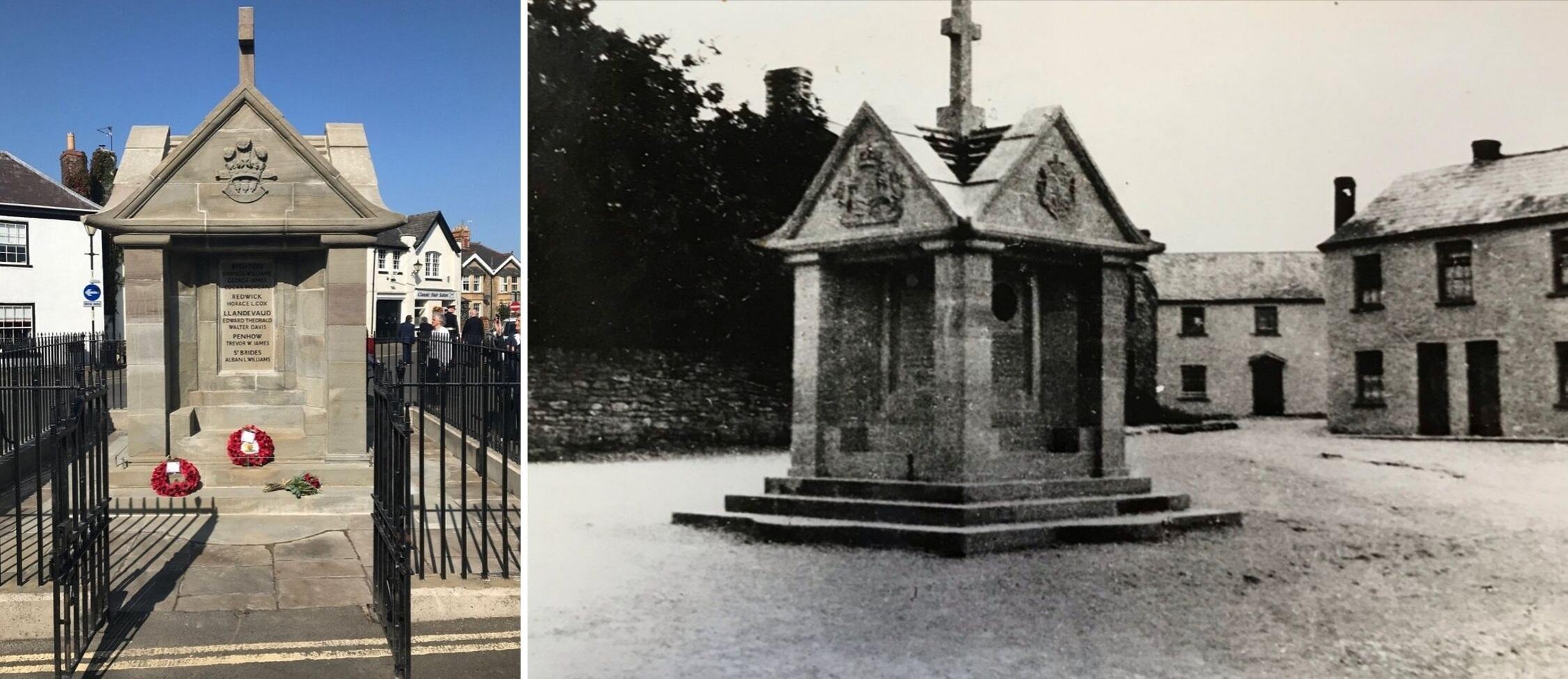 Service marks rededication of war memorial in village