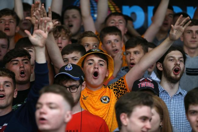 SUPPORT: The Newport County travelling fans inspired their team to victory on Saturday