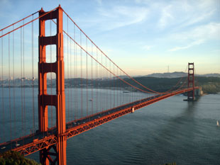 BREATHTAKING: The Golden Gate bridge