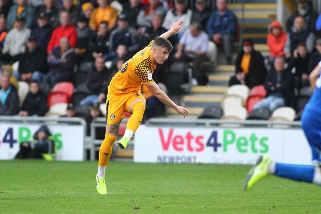 WINNER: A rocket from substitute George Nurse saw Newport County beat Carlisle United. Pictures: Huw Evans Agency