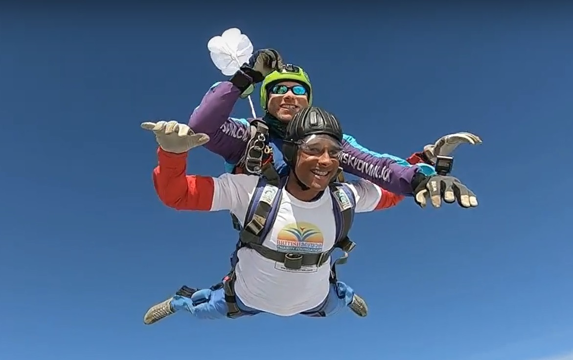 Teen takes a massive leap - and raises thousands for charity