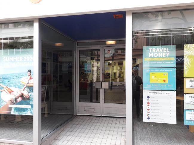 The Thomas Cook branch in Newport