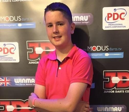 OCHE STAR: Gwent Youth's Connor Hopkins. Picture: Junior Darts Corporation