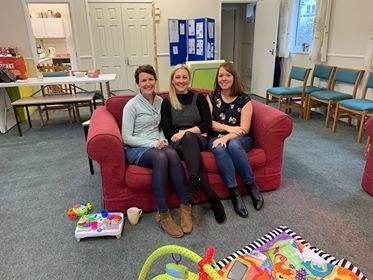 Lizzie, Laura Jones and Angela Carroll of Butterflies, a group for mums who have gone on to have a 'rainbow baby' after losing a child.