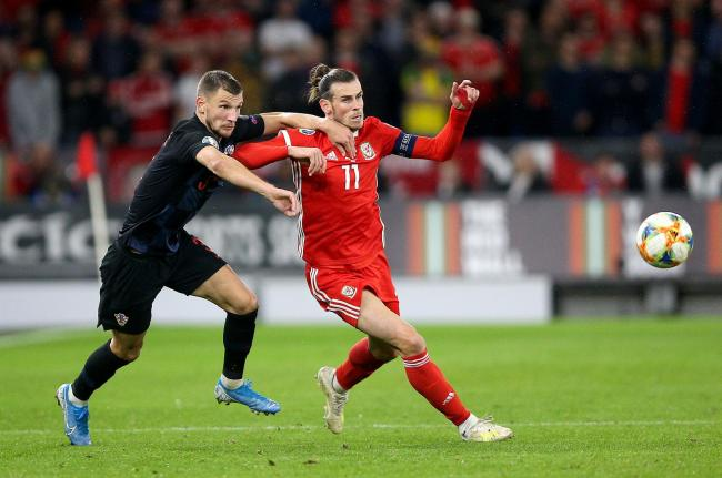 BATTLE: Gareth Bale in action for Wales against Croatia on Sunday night
