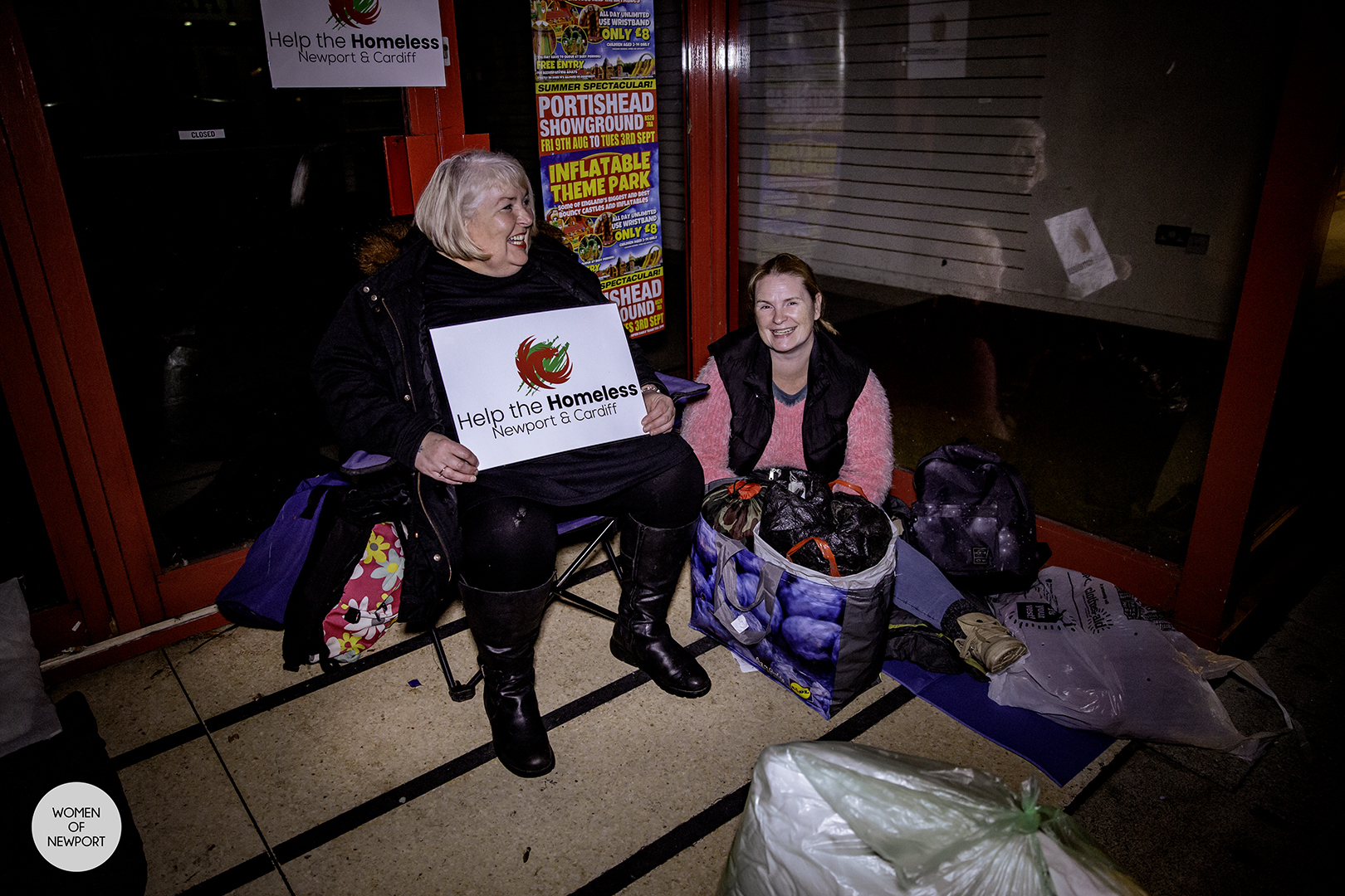 Help for Homeless Newport and Cardiff sleep rough on Newport streets to raise awareness