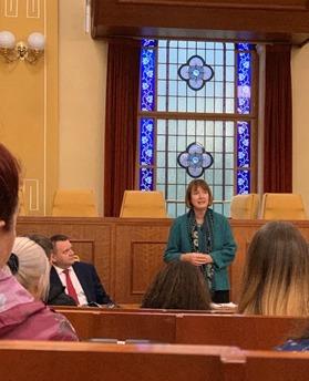 Speaker hopeful Harriet Harman MP visits Torfaen Youth Forum