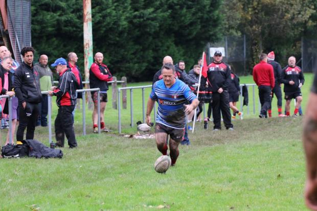 South Wales Argus: Shaun Connor in action for Blaina last weekend (Picture: Paul's Photography)