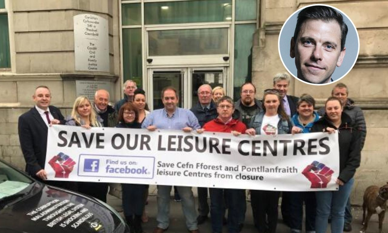 Pontllanfraith leisure centre campaigners praised in Parliament by Islwyn MP Chris Evans