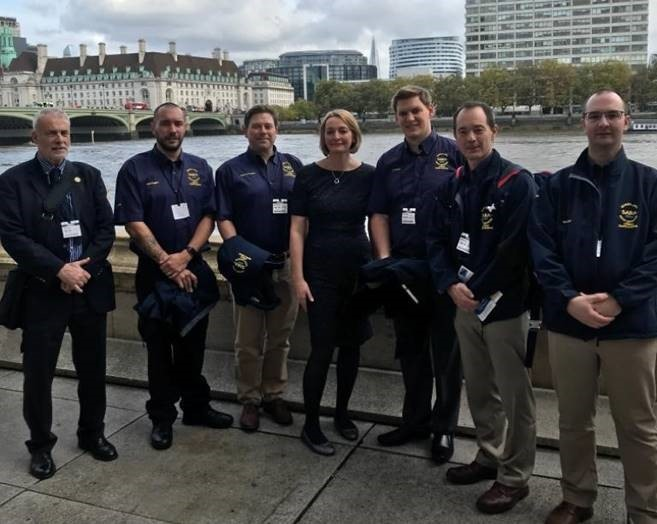 SARA Lifeboat team are Jessica Morden MP's guests of honour at Parliament event