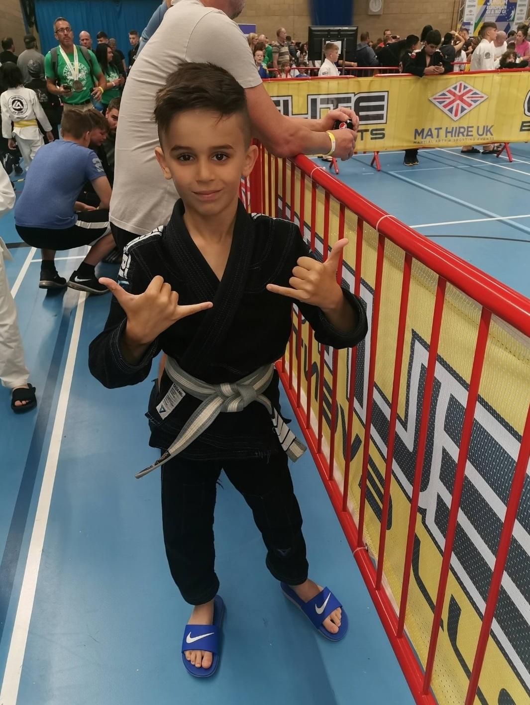 2019 Pan Kids International Brazilian Jiu-Jitsu Championship: Junior martial arts world champion, 8, 'desperate' to fight state-side