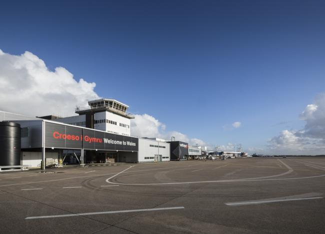 Cardiff Airport.