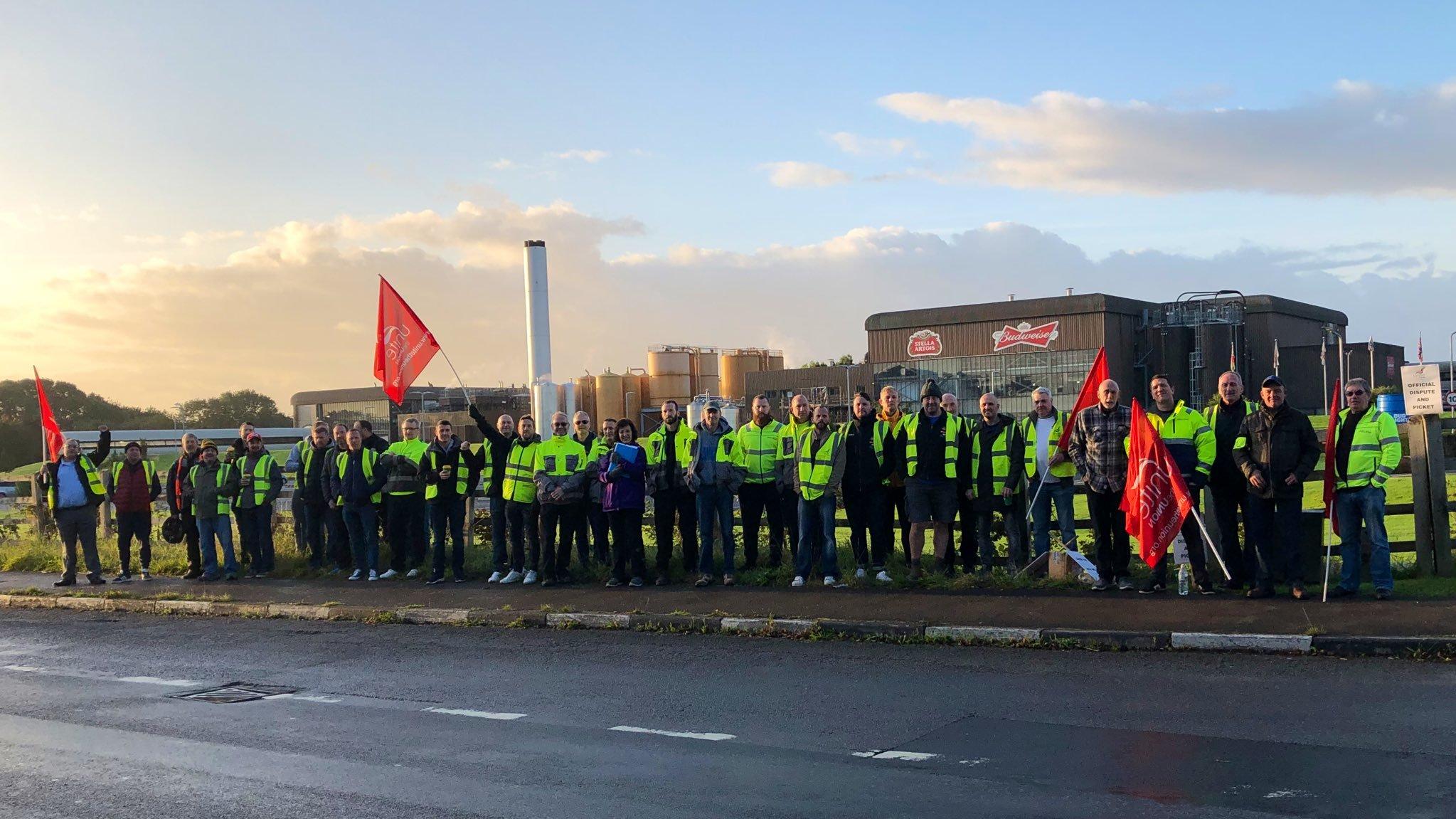 Budweiser brewery strike in Magor postponed, Unite union says
