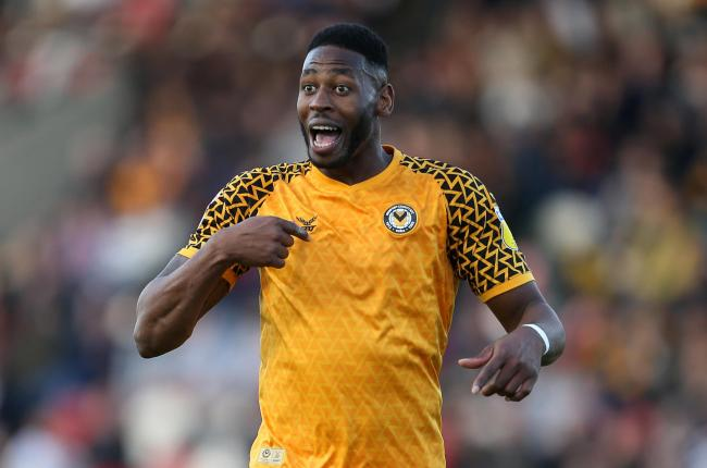 COMPETITION: Newport County striker Jamille Matt, who hit 20 goals last season, was taken off at half-time on Tuesday