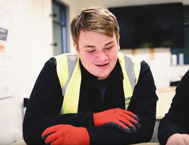 Danny Hodges, named young apprentice of the year in Monmouthshire