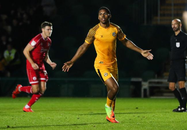CONFIDENT: Newport County striker Tristan Abrahams scored from the spot against Crawley Town