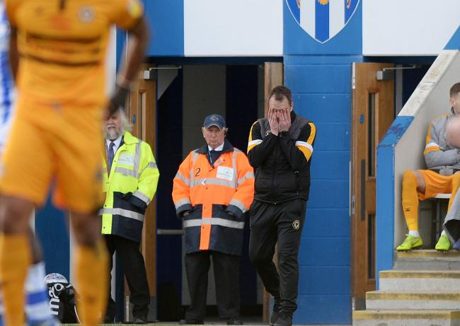 MISERY: Newport County manager Michael Flynn has not enjoyed his trips to Colchester United