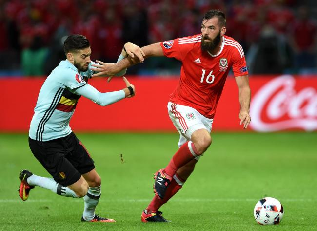 CLOSE: Wales midfielder Joe Ledley was on the brink of signing for Newport County