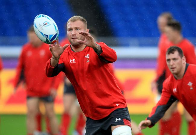 Wales' Ross Moriarty during a training session. Picture: Adam Davy/PA Wire.