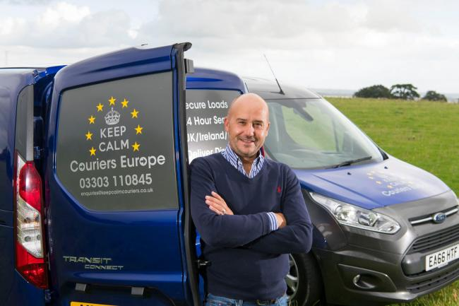 Neale Parker, of Keep Calm Couriers