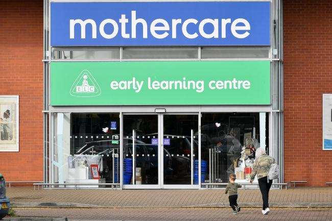 File photo dated 04/11/19 of a Mothercare store in Eastgate Retail Park, Bristol, as it is looking to move the pension schemes for its troubled UK business into its profitable parent group. PA Photo. Issue date: Tuesday November 5, 2019. The retailer file