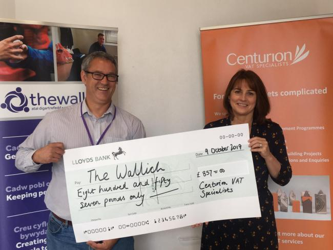 Newport-based independent VAT Specialists raises £857 for homeless charity The Wallich