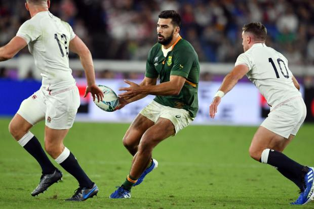 BIG SIGNING: South Africa's Damian de Allende is set to move to Munster next season along with fellow World Cup winner RG Synman
