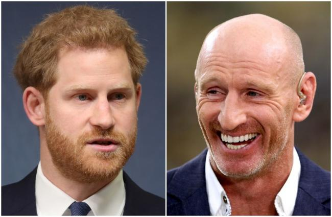 Prince Harry and Gareth Thomas. Pictures: Chris Jackson/PA