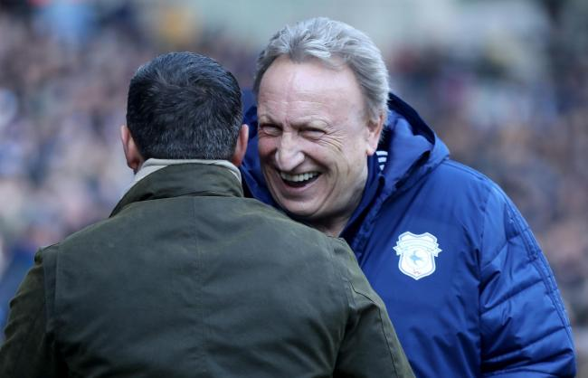 GONE: Cardiff City manager Neil Warnock and Bristol City manager Lee Johnson pictured ahead of Sunday's game at the Cardiff City Stadium. Bristol won the Championship derby 1-0. Picture: Bradley Collyer/PA Wire
